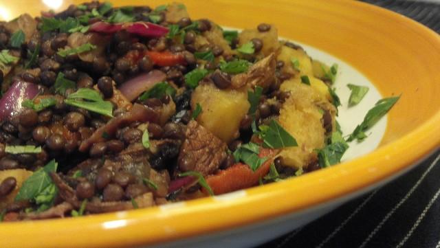 veggie-lentil-salad